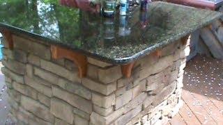 getlinkyoutube.com-How to build a Cultured Stone Outdoor Bar