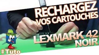 getlinkyoutube.com-Cartouche Lexmark 42 Noire : Comment Recharger La Cartouche d'Encre