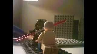getlinkyoutube.com-FULL BATTLE: Obi Wan Kenobi and Luke Skywalker vs Darth Vader in Lego