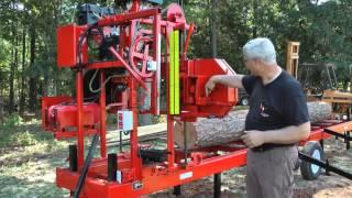 getlinkyoutube.com-Cook's MP-32 Portable Sawmill 2013