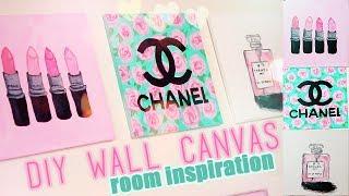 getlinkyoutube.com-DIY Room inspiration Decor | Chanel, MAC, Designer Paintings | Juicydaily 2014