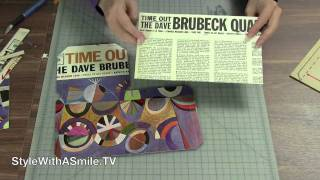 How to Make a Tissue Box Holder from A Record Album Cover