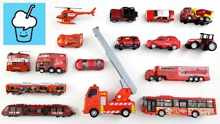 getlinkyoutube.com-Learning Red color for kids with street vehicles tomica トミカ tayo 타요 꼬마버스 타요 중앙차고지