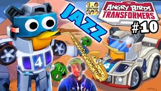 getlinkyoutube.com-JAZZ Pops Pigs! NEW Angry Birds Transformers Update! (SAVING BUBBLES) Part 10