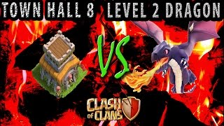 getlinkyoutube.com-Level 2 DRAGON destroyed Town Hall 8 (TH8) base | TH7 vs TH8 Clan war