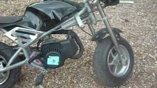getlinkyoutube.com-Pocket Bike Cagllari MT-A1 49cc 2-stroke
