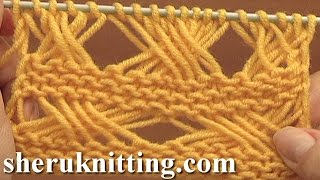 getlinkyoutube.com-Cross Stitch Knitting Pattern Tutorial 7 Long Loops Extended Stitches