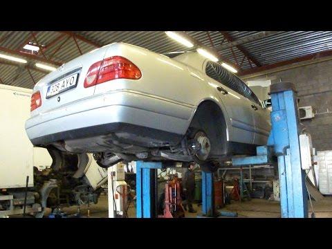 Замена тормозных трубок Mercedes W210 Brake Line Replacement