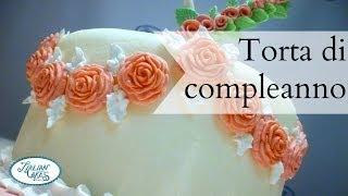 getlinkyoutube.com-Torta di compleanno in pasta di zucchero by ItalianCakes
