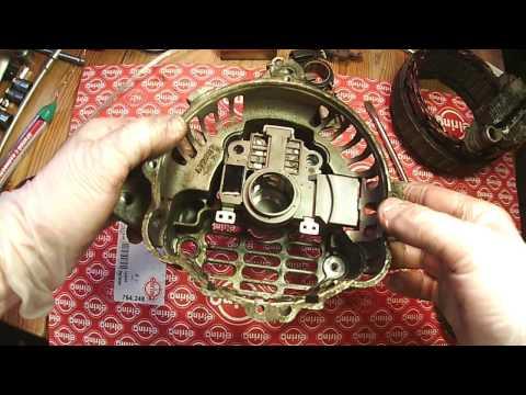 Замена реле регулятора генератора Mitsubishi 120A