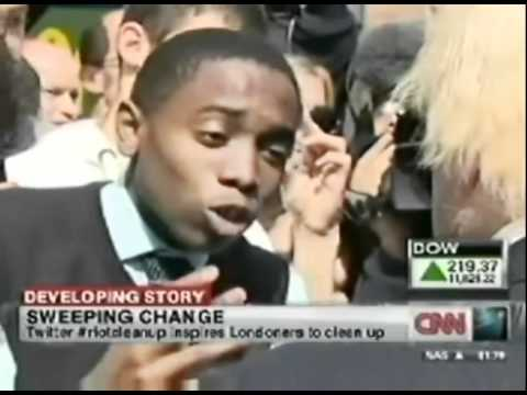 LONDON RIOTS: Young man speaks up to London Mayor Boris Johnson: Not shown on UK Media