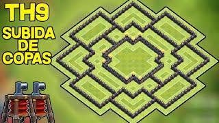 getlinkyoutube.com-Aldea Subida de Copas + 2 CONTROLADORES AÉREOS | Ayuntamiento 9 | TH9 | Diseño de Aldeas | byGenesys