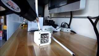 getlinkyoutube.com-Rigid D2 LED Lights install on Jeep Wrangler (RockTrooper)