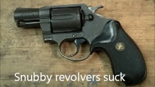 Snubby revolvers suck, so I shoot one at 50 yards