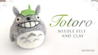 getlinkyoutube.com-DIY Needle Felt Totoro - ASMR Craft Tutorial