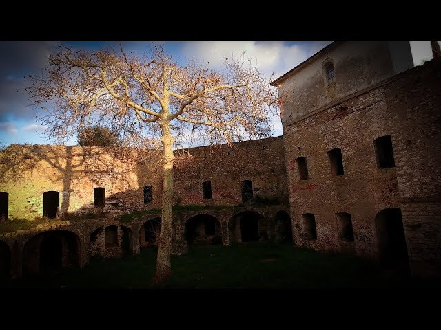 Pantokratoras castle drone flight