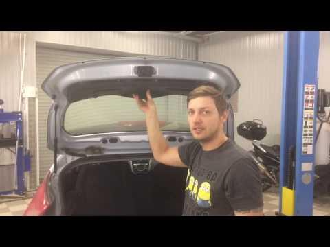 Замена кнопки багажника Hyundai Solaris HB