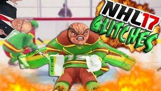 getlinkyoutube.com-NHL 17 Funny Glitches, Moments & Hits! #4