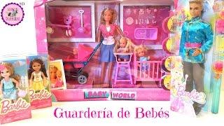 getlinkyoutube.com-Guardería de bebés, muñecas Chelsea y Ken Príncipe - Juguetes nuevos de Barbie y Steffi love