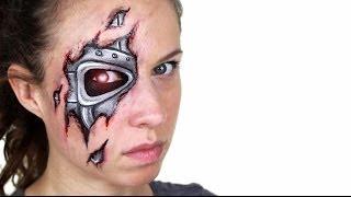 getlinkyoutube.com-Robot / Terminator Makeup Tutorial