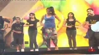 getlinkyoutube.com-Lakshmi Rai Dance Practice At CCL 2 Curtain Raiser