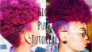 getlinkyoutube.com-Natural Hair: High Puff Tutorial