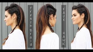 Faux Hawk Hair Tutorial