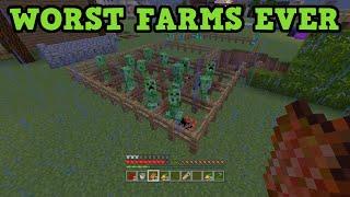 getlinkyoutube.com-Minecraft - 5 AWFUL Impractical Farms (Worst Farms)