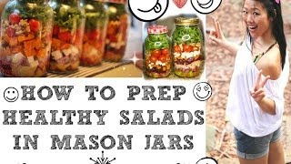 getlinkyoutube.com-ULTIMATE GUIDE TO SALAD PREPPING IN MASON JARS (How to food prep the perfect salad in a jar)