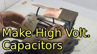 getlinkyoutube.com-How to Make High Voltage Capacitors - Homemade/DIY Capacitors