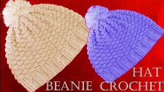 getlinkyoutube.com-Como tejer gorro a Crochet - Beanie Crochet learn