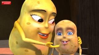 getlinkyoutube.com-Potato Song | Telugu Rhymes for Children | Infobells