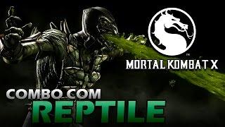 getlinkyoutube.com-Mortal Kombat X: Combo com REPTILE