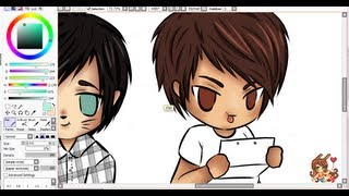 getlinkyoutube.com-[ Dan, Phil + Chris ] Chibi Speedpaint - Part 1
