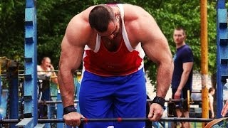 getlinkyoutube.com-Soviet Bodybuilding GYM - CRAZY STRONG WORKOUT MOMENTS