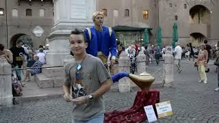 getlinkyoutube.com-Genie Magic Lamp Levitation |  Street Performer