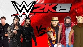 getlinkyoutube.com-WWE 2K15 OFFICIAL GAMEPLAY ON XBOX 360 (THE SHIELD VS THE WYATT FAMILY)