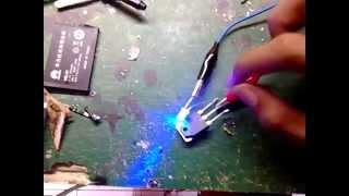 saklar sentuh menggunakan 1 transistor