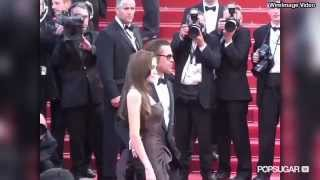 getlinkyoutube.com-Angelina Jolie's Flirtiest Moments With Brad Pitt in Honor of Her Birthday!