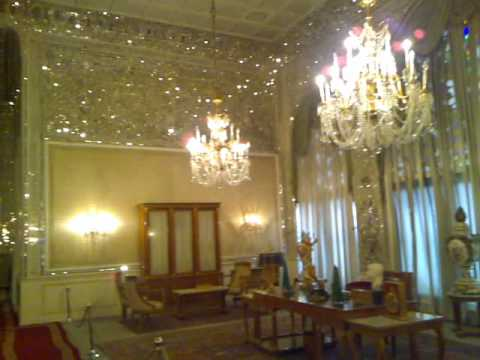 Niavaran Palace inside, Mirror's Hall, کاخ نیاوران.mp4