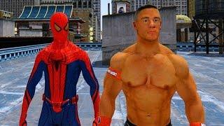 getlinkyoutube.com-The Amazing Spiderman vs John Cena - WWE Superstar vs Spiderman