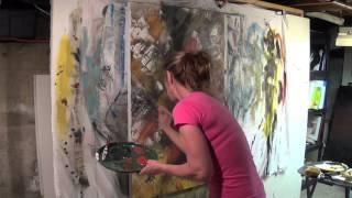 "getlinkyoutube.com-Abstract Art Painting Demo - Original by Shari Kreller - ""The Secret"""
