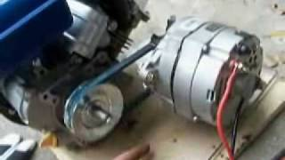 getlinkyoutube.com-How to Build an Engine/Alternator Generator   2/2 Putting it Together