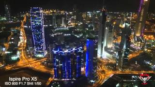 getlinkyoutube.com-Kuwait Lights Sony A7s vs Inspire 1 pro X5 low light