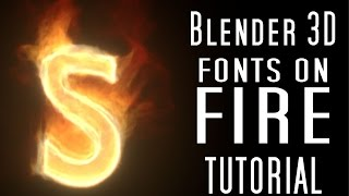 getlinkyoutube.com-Blender 3d Tutorial: Creating Sleek, Stylized Flames on Text
