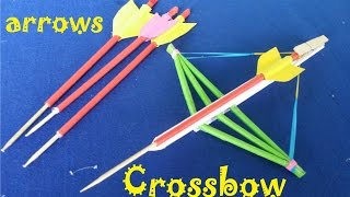getlinkyoutube.com-How to make a Paper Crossbow and Arrows | Creative toy