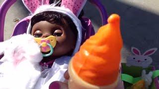getlinkyoutube.com-Baby Alive Real Surprises Doll -- Easter Hunt