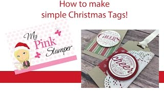getlinkyoutube.com-Stampin' Up! Easy Christmas Tags with Heres to Cheers Stamp Set