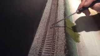 getlinkyoutube.com-Model Railroad Track Ballasting HO Scale