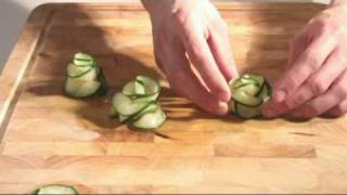 getlinkyoutube.com-Cucumber Flower Garnish